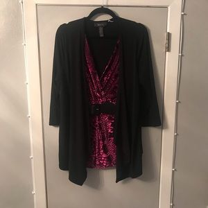 Stunning Attached Jacket and Blouse with belt